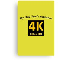 4K HD - New Year's resolution Canvas Print