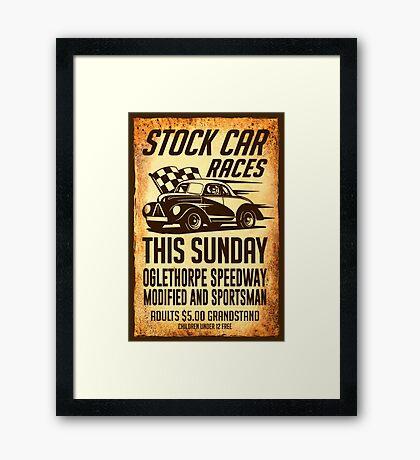 Stock Car Races Framed Print