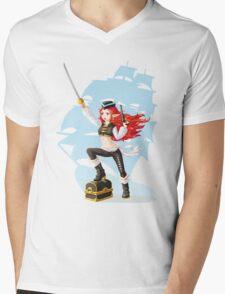 Pirate Girl Mens V-Neck T-Shirt