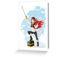 Pirate Girl Greeting Card