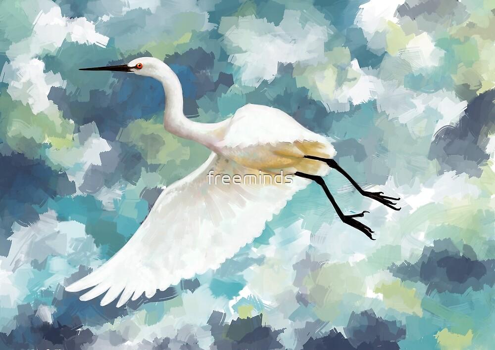 Florida Egret by freeminds