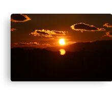 Partial Solar Eclipse 2 Canvas Print