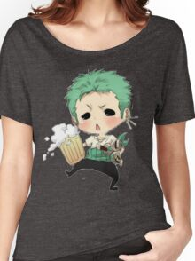 Small chibi Zoro drunk one piece Women's Relaxed Fit T-Shirt