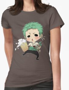 Small chibi Zoro drunk one piece Womens Fitted T-Shirt