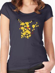Pikachu Spots Women's Fitted Scoop T-Shirt
