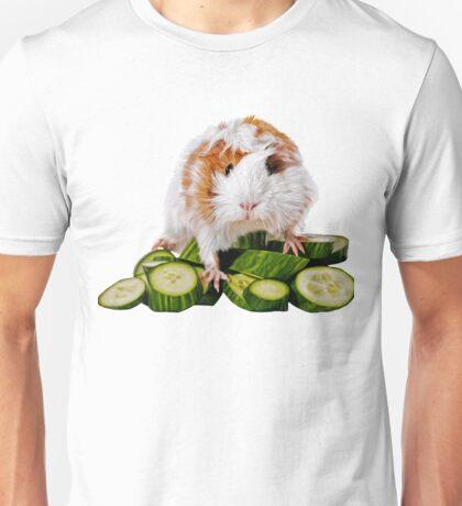 Meerschweinchen auf Gurken Unisex T-Shirt