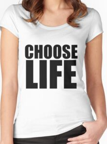 Choose Life - George Michael - Wham Women's Fitted Scoop T-Shirt