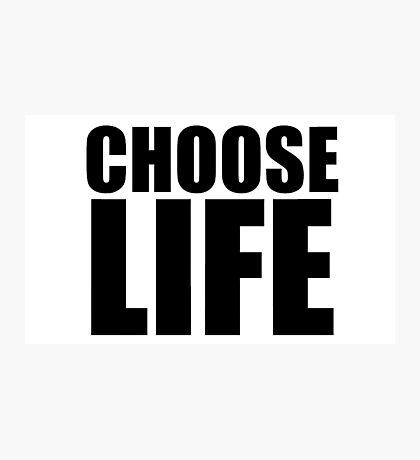Choose Life - George Michael - Wham Photographic Print