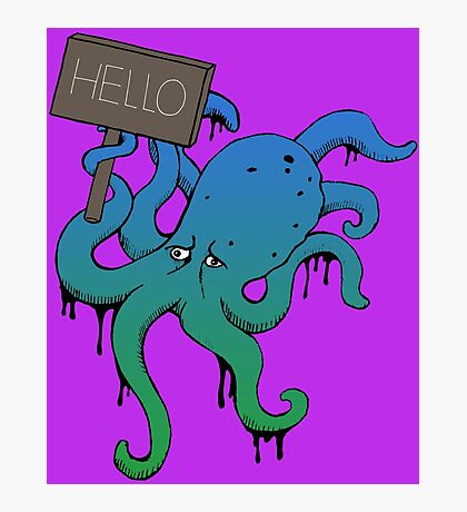 The Friendly Octopus Photographic Print
