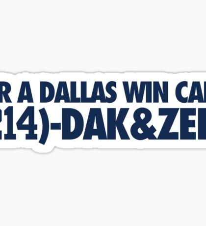 For A Dallas Win Call (214)-Dak&Zeke (Blue) Sticker