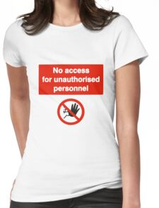 No Access Womens Fitted T-Shirt