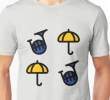 Blue French Horn/Yellow Umbrella - How I met your mother Unisex T-Shirt