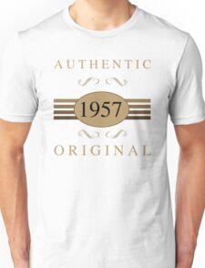 Authentic 1957 Birthday Unisex T-Shirt