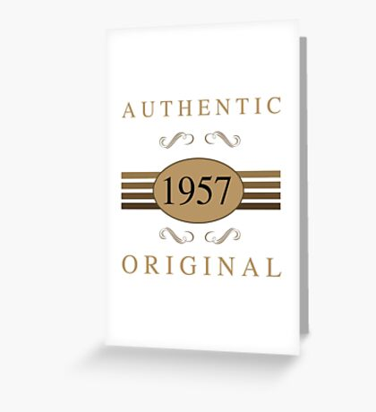 Authentic 1957 Birthday Greeting Card