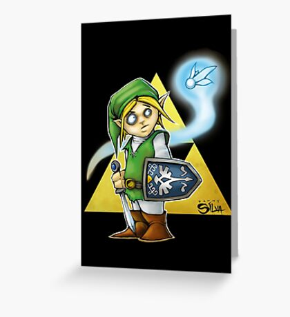 Its Dangerous To Go Alone! Greeting Card