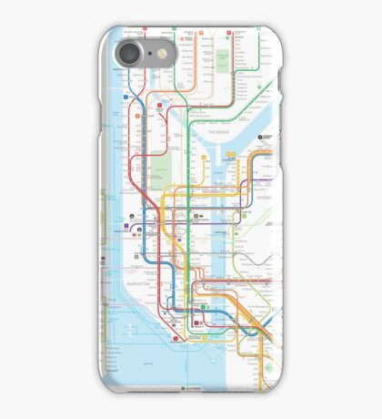 New York City subway map iPhone Case/Skin