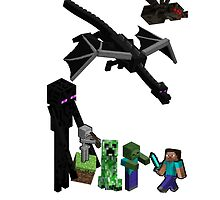 Minecraft Steve vs Monster ! by kaonashi93