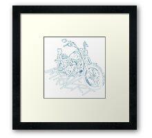 introvert's white lining bike Framed Print