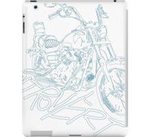 introvert's white lining bike iPad Case/Skin