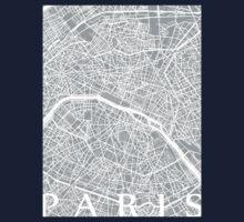 Paris Map (Light Grey) Baby Tee