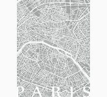 Paris Map (Light Grey) Unisex T-Shirt