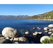 Intensely Blue Lake Tahoe Photographic Print