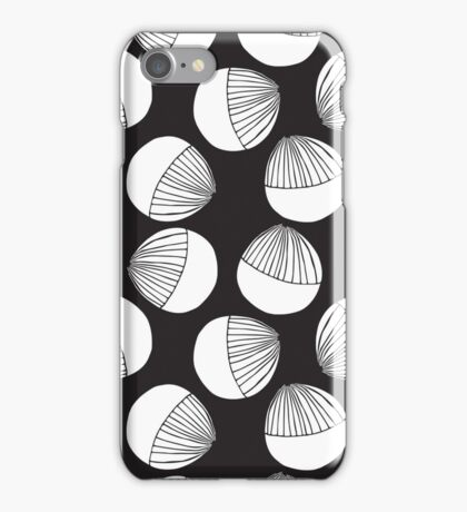 Black and white floral shapes pattern. iPhone Case/Skin