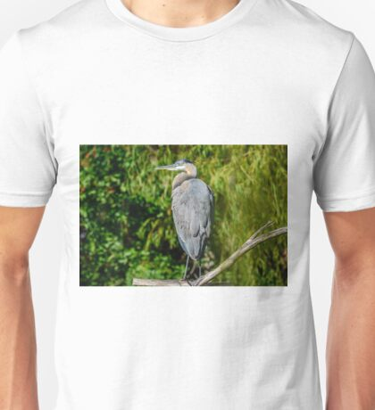 Great Blue Heron in the Trees Unisex T-Shirt