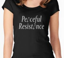 #Peaceful #Resistance - small Women's Fitted Scoop T-Shirt