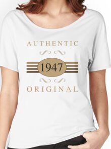 Authentic 1947 Birthday Women's Relaxed Fit T-Shirt