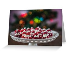 Christmas Strawberry Santas Greeting Card