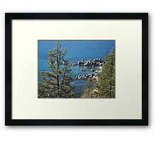 Private Cove at Lake Tahoe Framed Print