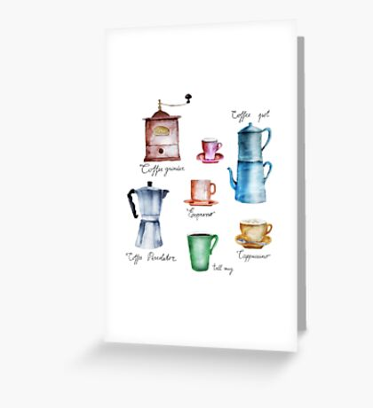 It's Coffee Time! Greeting Card