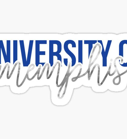 University of Memphis - Style 13 Sticker