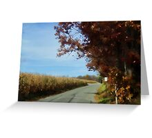 Meandering down a country road Greeting Card