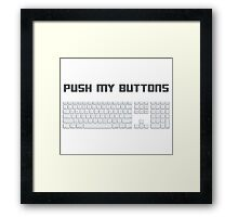 Push My Buttons Computer Keyboard Framed Print