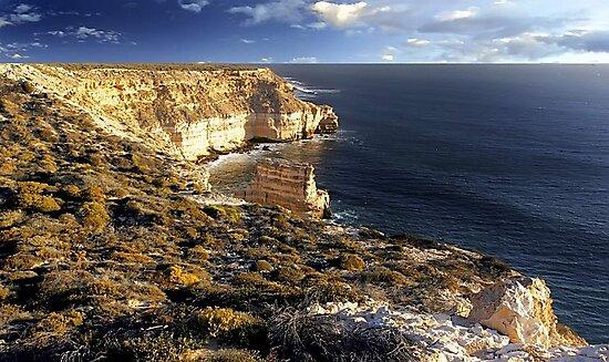 Kalbarri Coastal Cliffs At Sunset by EOS20