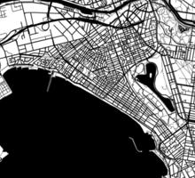 Melbourne Map Sticker