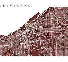 Cleveland Map by CartoCreative