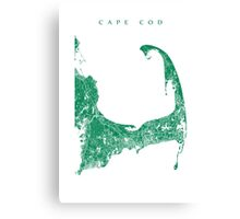 Cape Cod Map Canvas Print