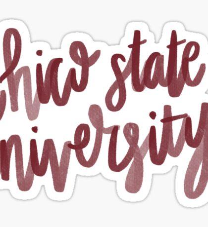 Chico State University  Sticker