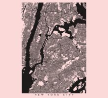 New York City Black and White Map - NYC Kids Clothes