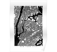 New York City Black and White Map - NYC Poster
