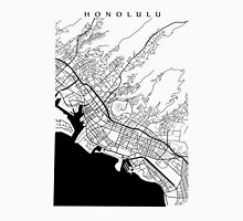 Honolulu Black and White Map T-Shirt