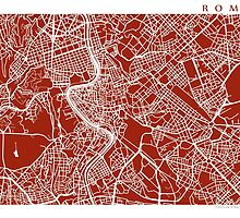 Rome, Italy Map Print by CartoCreative