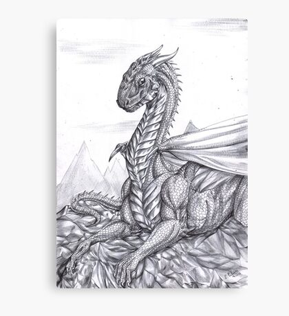 Saphira (BW) Canvas Print