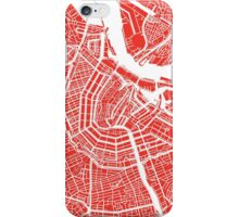 Amsterdam, Netherlands Map Art iPhone Case/Skin