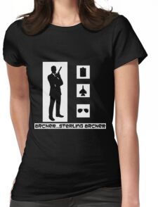 Archer, Sterling Archer Womens Fitted T-Shirt