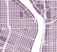 Portland, Oregon Map Art Sticker