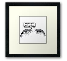 Cartoon : The Shrimp Girl Framed Print
